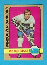 1972-73 OPC 84 Wayne Maki Vancouver Canucks! His last card! NM!