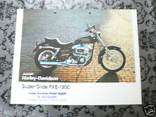 BROCHURE HARLEY-DAVIDSON SUPER GLIDE FXE-1200  ENGLISH 2 PAGES PH658