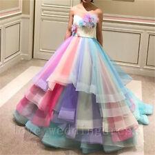 Regenbogen Braut Hochzeit Abend Kleider Süße 16 Party Quinceanera Kleider Neu