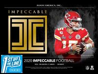 2020 Panini Impeccable FOLT Football One Hobby Box Random Team Break #1