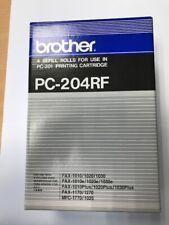 Brother® Thermotransfer-Rollen schwarz, 420 Seiten, PC204, 4er Pack