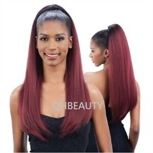 FREETRESS EQUAL SYNTHETIC DRAWSTRING LONG HAIR PONYTAIL - YAKY BOUNCE 30 INCH