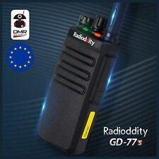 Radioddity GD-77S DMR Dual Band V/UHF Tier 2 EMISORA Walkie Talkie w/ PMR 446MHz