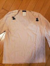 EUC Sonia by Sonia Rykiel peach sweater 100% wool with cherries size XL