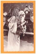 JOUET D'ENFANT / PERE NOEL avec POUPEE & OURS en peluche vers 1930