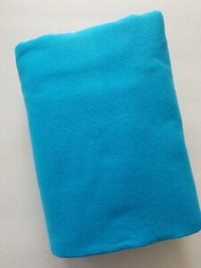 2-1/2 yards Solid Turquoise Flannel Quilt Fabric - Inventory Reduction Sale!