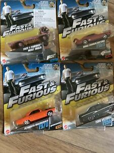 Fast And Furious Diecast 1:55 Scale Bundle Mattel New Sealed