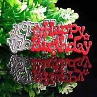 Happy Birthday Cut Dies Stencil Scrapbooking Album Tagebuch Stanzschablone^