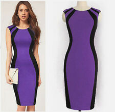 2018 Women Evening Party Dress Summer Sexy Slim Fit Blue Purple Shape fit #100
