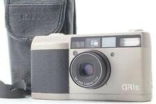 [Near Mint ] Ricoh GR1s Silver 35mm Point & Shoot Film Camera w/ Hood From Japan