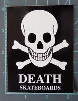 """DEATH"" -skateboards ""cross bones"" - team deck,vintage sticker,NOS, Sims, Powell"