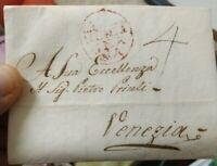 1814 PREFILATELICA  DIRETTA A VENEZIA CON BOLLO OVALE MONTAGNANA REPUBBLICANO
