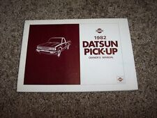 1982 Datsun Pickup Truck Owner User Guide Operator Manual 2.2L 4Cyl