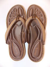Tony Little Cheeks Fit Body Barefoot Sandals -Brown-Size 8-NEW