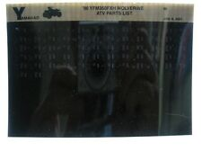 Yamaha YFM350 1996 Wolverine YFM350FXH Parts List Manual Microfiche r39