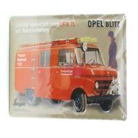 Blechschild Feuerwehr Opel Metall Schild 30 cm,Nostalgie Metal Shield