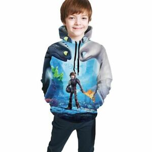 How To Train Your Dragon Kids Youth Hooded Sweatshirts Hoodies Pullover Jumper