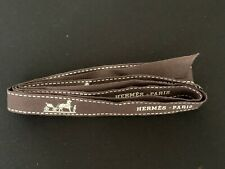 """Auth HERMES Paris Logo Brown Gift Wrapping Ribbon 34"""" NEW"""