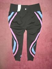 LIVI ACTIVE Wicking 7/8 Legging 14/16 Black w/ Pink & blue 0X 1X 14W 16W