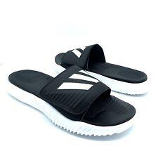 Adidas Alphabounce Slide Sport Slides Black & White Slippers SIZE 9, BA8775