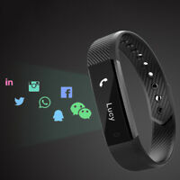 ID115 Smart Band Fitness Sports Tracker Bracelet Passometer Bluetooth Wristband