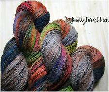 New ListingHand Dyed Yarn Gloaming Wild Thing Highland Wool Sock Yarn 437y DyeLot#1 Rainbow