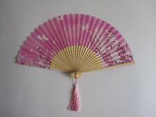 Fächer Handfächer Seidenfächer aus Bambus und Seide mit Tassel Sommer Rosa
