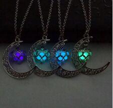Brilla en la Oscuridad Brillante Luminoso Luminescente Mágico Colgante Collares
