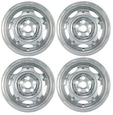 "NEW 2002-2004 Jeep LIBERTY 16"" Chrome Wheel Covers Skins Set fits Steel Wheels"