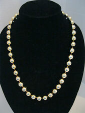 Vintage Gold Tone Round Bead  Necklace 23""