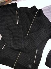 Couture Club Full Tracksuit Top Bottoms Set Black Size M Medium