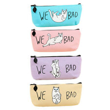 Korean Style Simple Cute Little Cat Cartoon Animal Pencil Case Storage Bag box