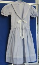 "EUC Vintage 1960s MIDDY DRESS by THE WHITE HOUSE Bond St LONDON Blue 26"" Chest"