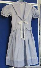 "EUC Vintage 1960s MIDDY DRESS by THE WHITE HOUSE Bond St LONDON Blue 26"" Chest"