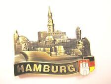 Hamburg Port Landungsbrücken Magnetic Metal, Souvenir Germany, New,