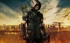 "Green Arrow TV Show Fabric poster 21""x 13""  Decor 36"