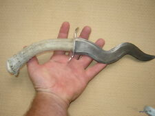 new HandMade Prime Deer Antler Handle hunting KNIFE serpentine/snake-like form