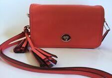 Coach Penny Legacy Crossbody Bag Coach Purse Pink Watermelon Leather Tassel