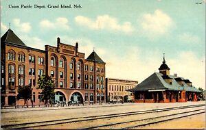 Postcard Union Pacific Railroad Depot in Grand Island, Nebraska~2117