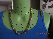 Vintage STUNNING NAPIER Gold Twist RUNWAY Necklace & Bracelet Demi Parue.#6268