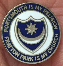 Portsmouth est ma religion fratton park est mon église enamel pin