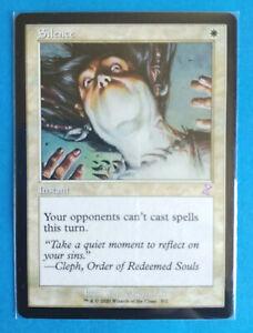 Magic MTG Card SILENCE Time Spiral Remastered Rare Rara ENG Mint