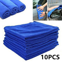 10PC MICROFIBRE CLEANING AUTO CAR DETAILING SOFT CLOTHS WASH TOWEL DUSTER 30cm