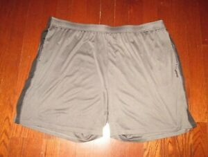 REEBOK mens SZ 4XL gray w/black accent athletic shorts