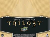2018-19 Upper Deck Trilogy Autographs / Pucks / Jerseys Pick From List