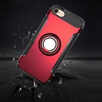 coque à renfort en carbone Silicone + anneau métallique Apple iPhone X