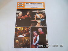 CARTE FICHE CINEMA 1994 STAR TREK GENERATIONS Patrick StewartJonathan Frakes