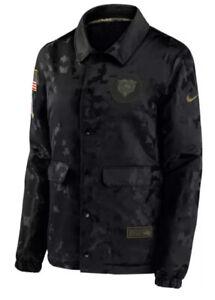 Nike Women's Chicago Bears Salute To Service Black Snap Jacket Medium M NFL