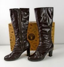 Sandler of Boston Knee-High Brown Leather Boots Ladies Size 8.5 M Vintage 1980's