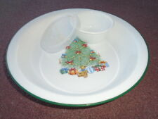 4-pc CHRISTMAS Corelle HOLIDAY MAGIC PIE PLATE w/6-oz DIP CUP Bowl & DOMED COVER